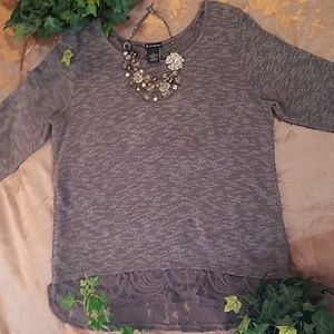 ND Knit Tunic with Zipper Detail